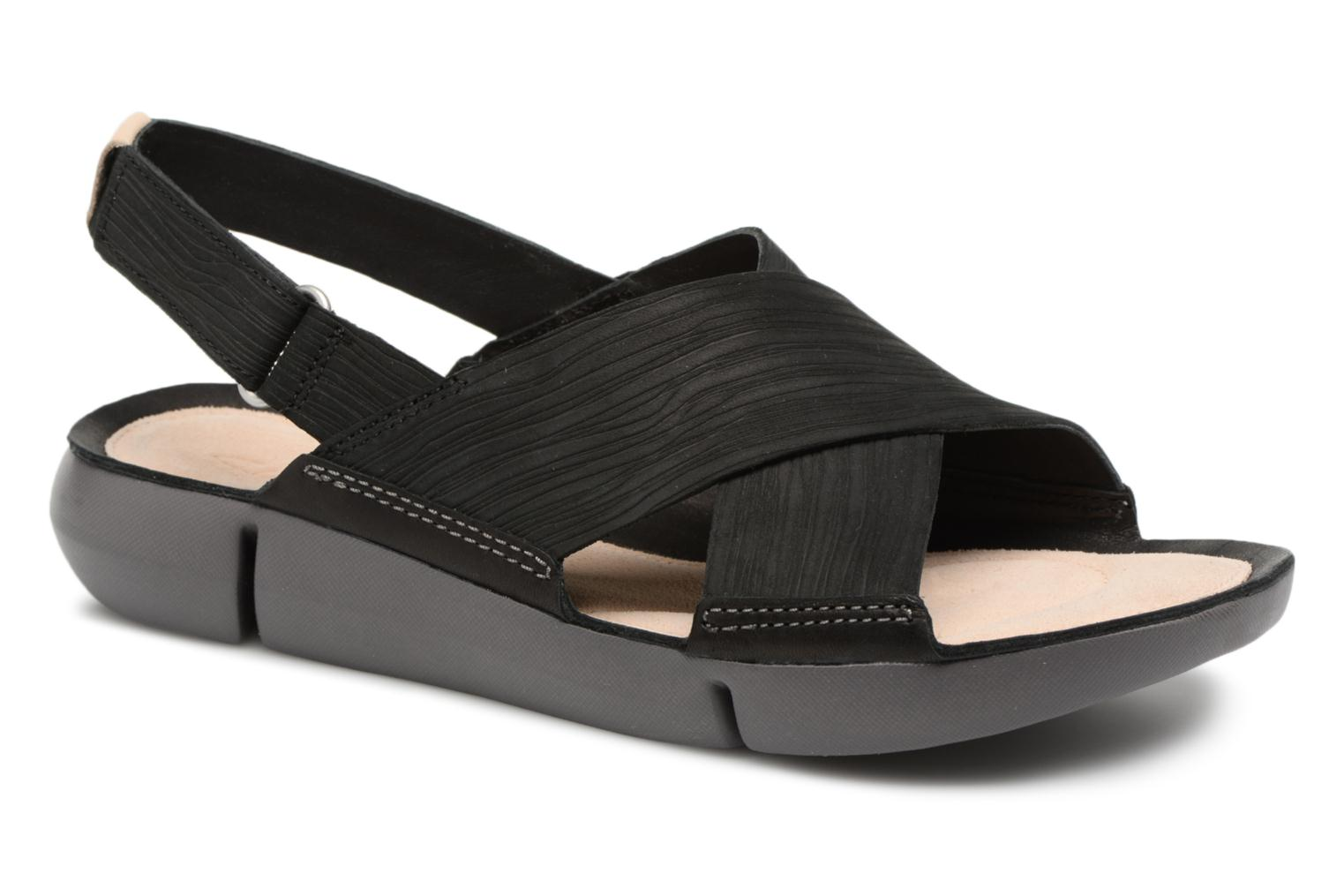 Sandals Clarks Tri Chloe Black detailed view/ Pair view