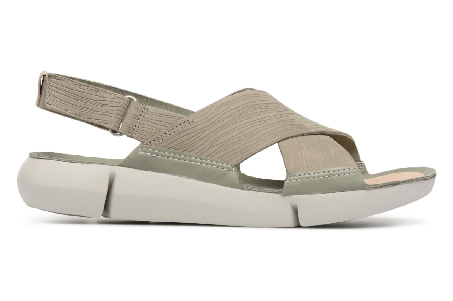 Sandals Clarks Tri Chloe Green back view