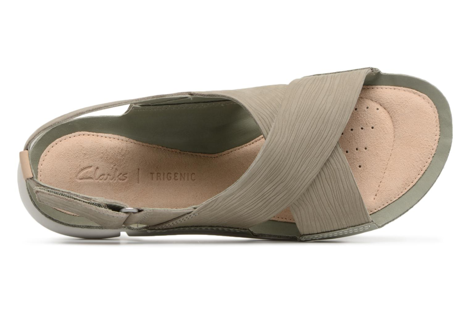 Sandals Clarks Tri Chloe Green view from the left