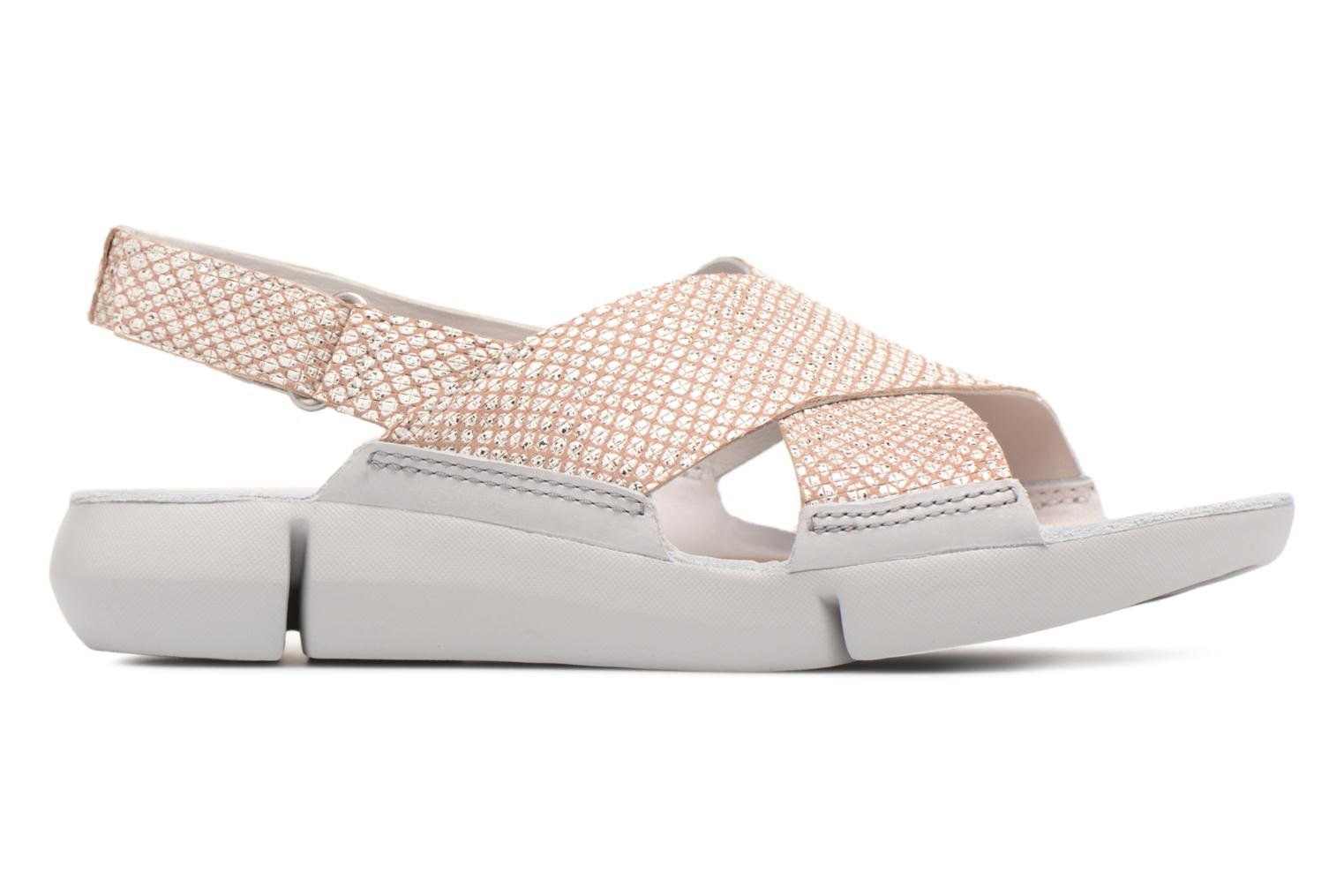 Sandals Clarks Tri Chloe Silver back view
