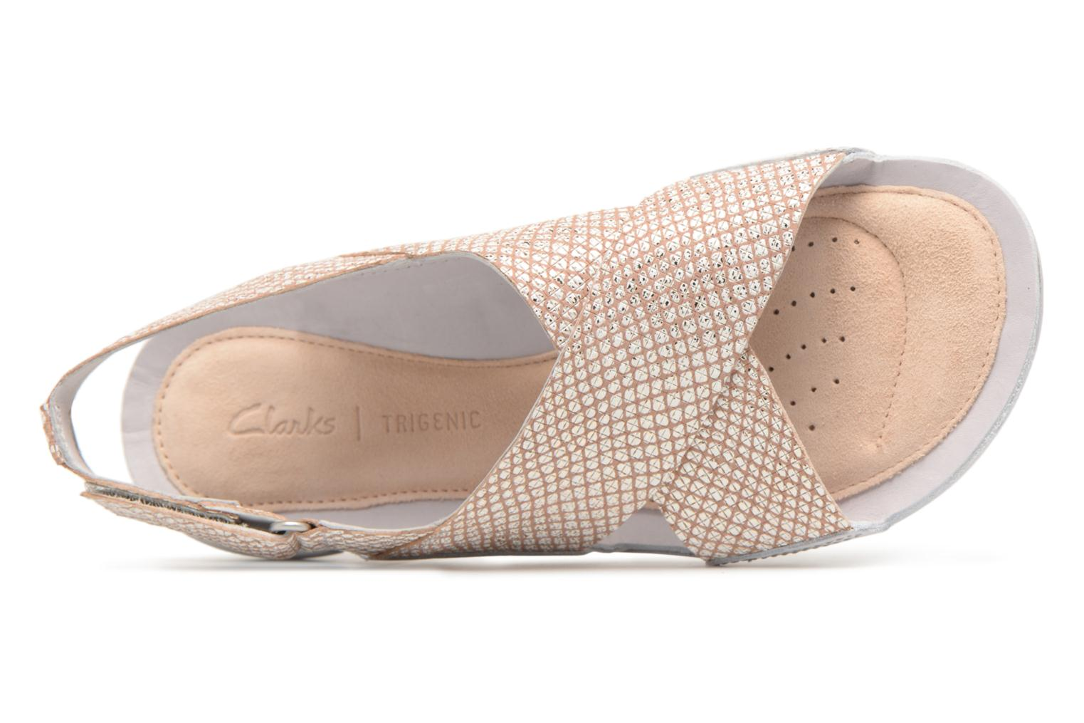 Sandals Clarks Tri Chloe Silver view from the left