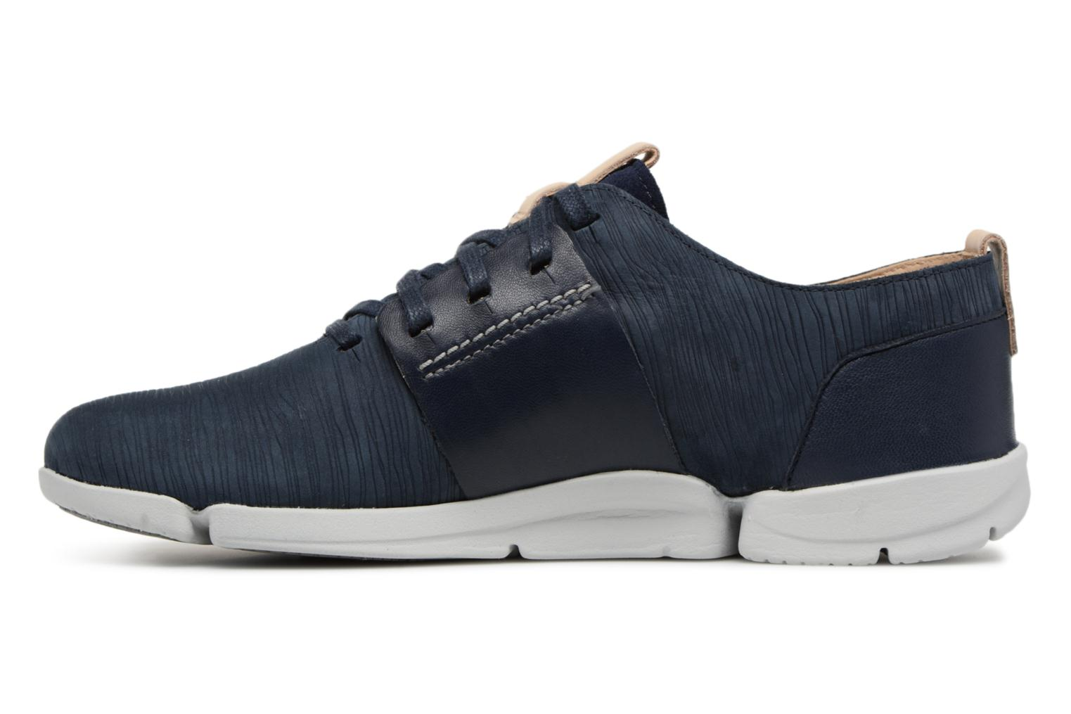 Trainers Clarks Tri Caitlin Blue front view