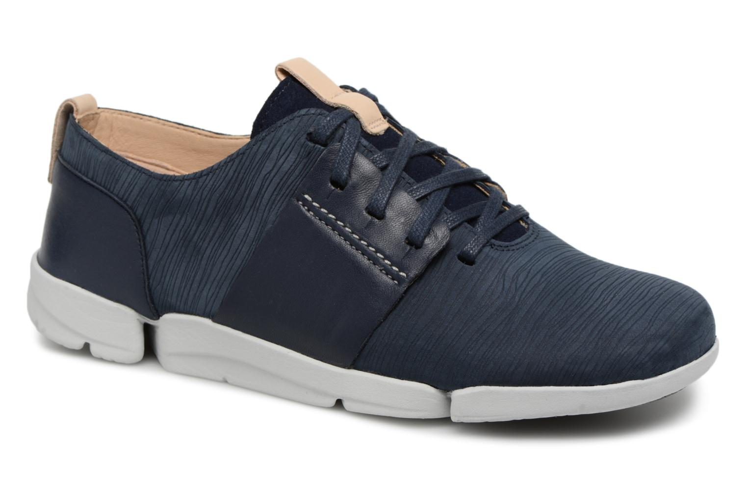 Trainers Clarks Tri Caitlin Blue detailed view/ Pair view