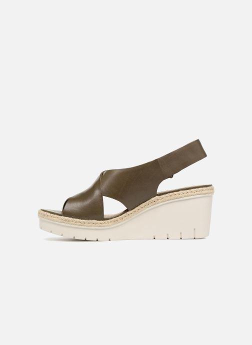 Sandales et nu-pieds Clarks Palm Glow Vert vue face