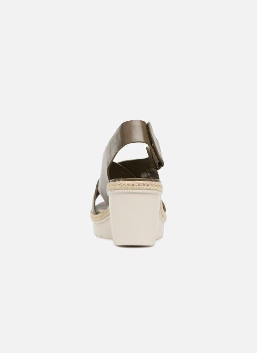 Sandales et nu-pieds Clarks Palm Glow Vert vue droite