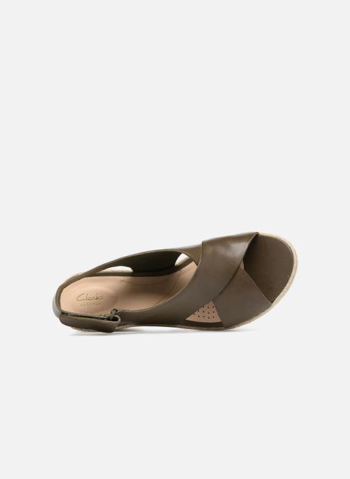 Sandales et nu-pieds Clarks Palm Glow Vert vue gauche