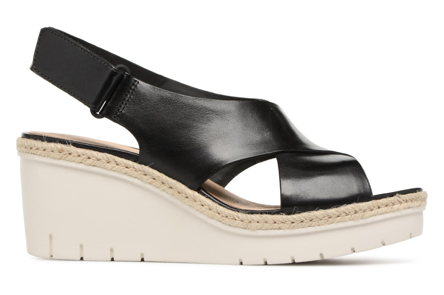 Sandals Clarks Palm Glow Black back view