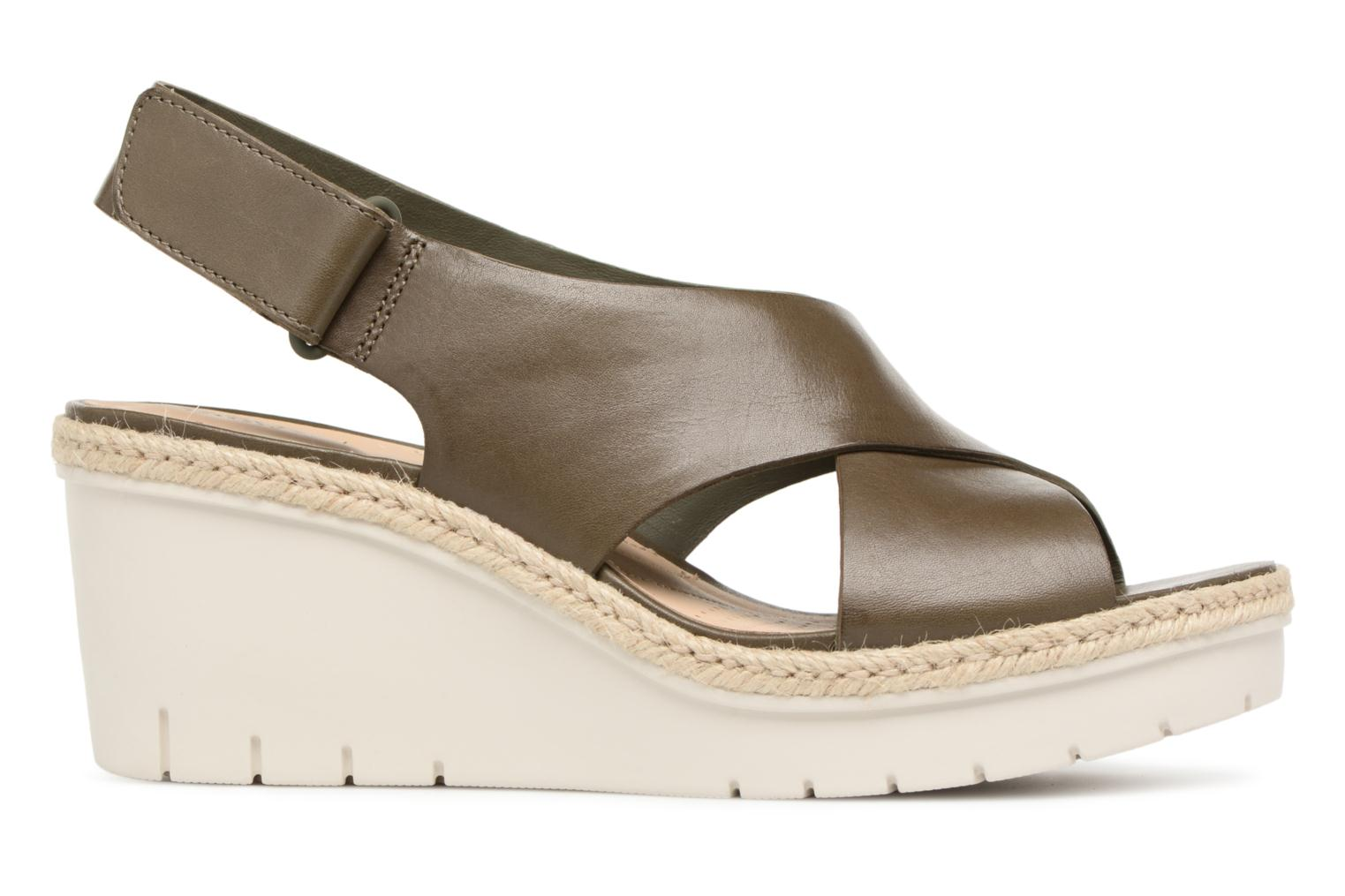 Sandals Clarks Palm Glow Green back view