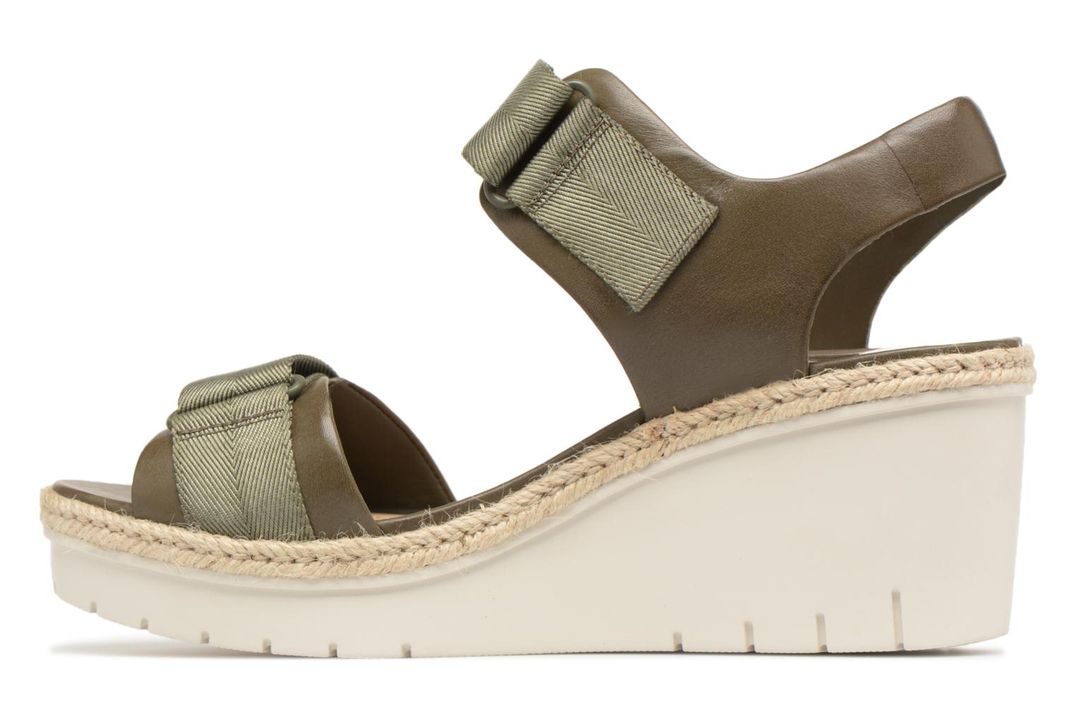 Sandals Clarks Palm Shine Green front view
