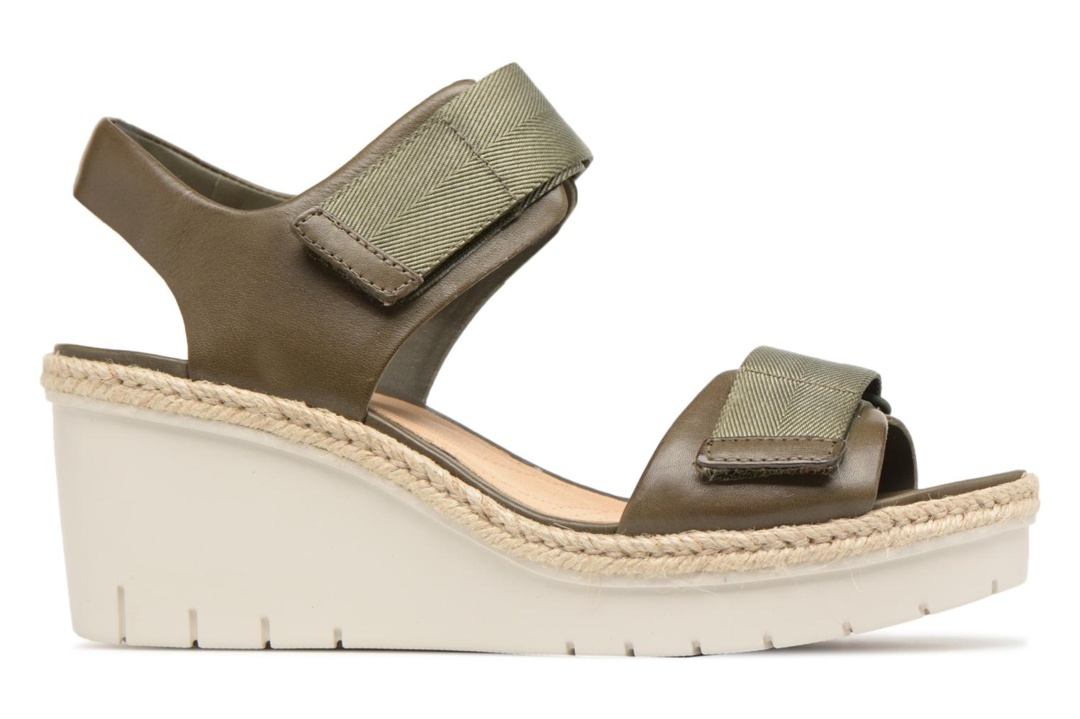 Sandals Clarks Palm Shine Green back view