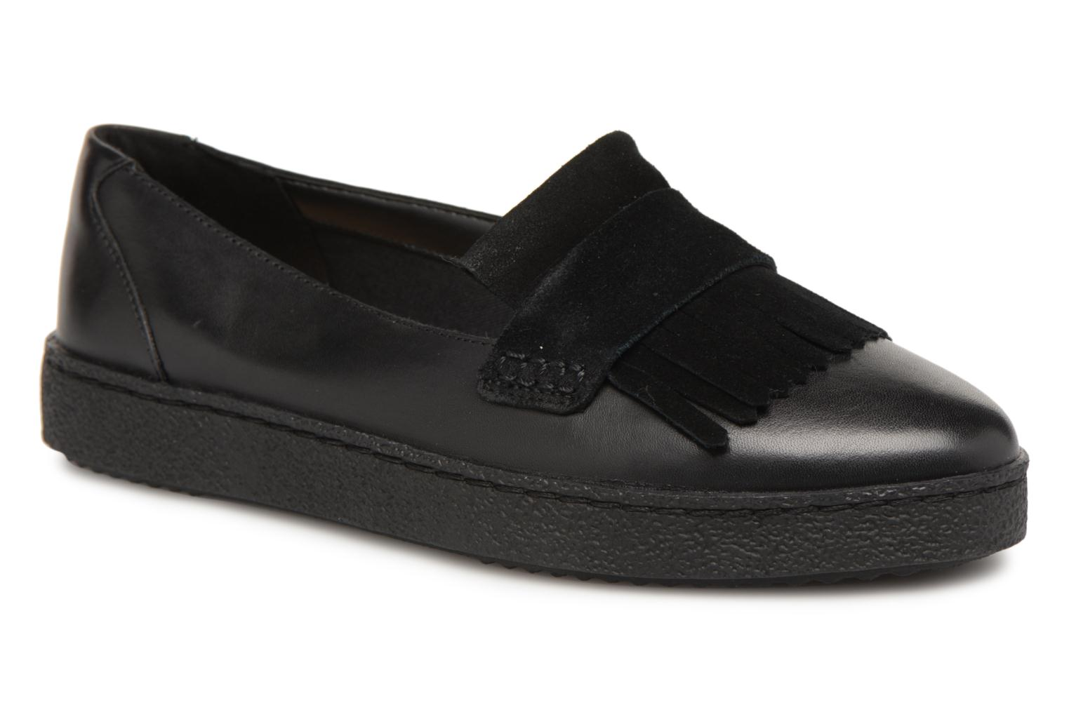 Loafers Clarks Lillia Lottie Black detailed view/ Pair view