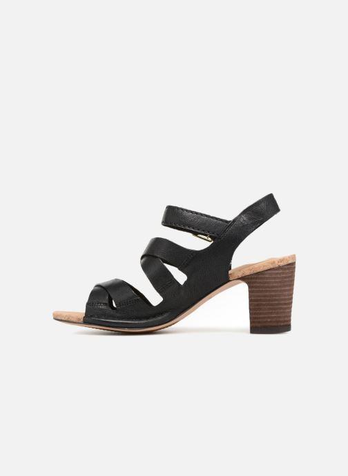 Sandales et nu-pieds Clarks Spiced Ava Noir vue face