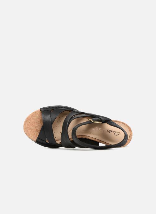 Sandales et nu-pieds Clarks Spiced Ava Noir vue gauche