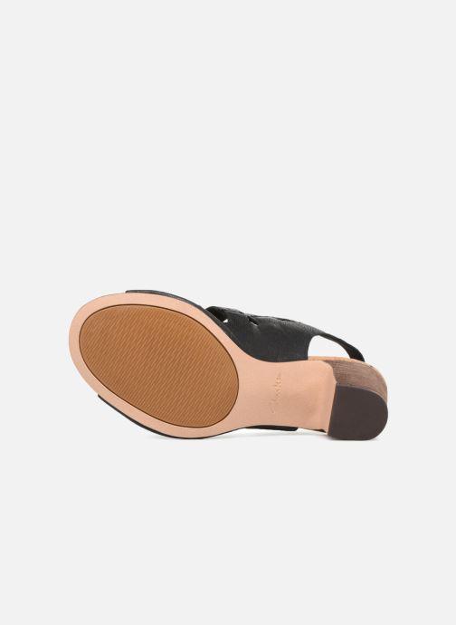 Sandales et nu-pieds Clarks Spiced Ava Noir vue haut