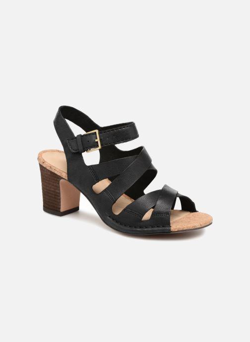 Sandaler Clarks Spiced Ava Sort detaljeret billede af skoene