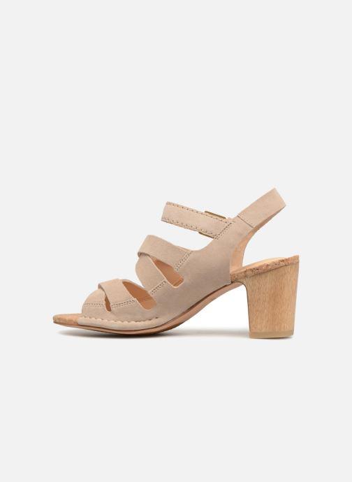 Sandales et nu-pieds Clarks Spiced Ava Beige vue face