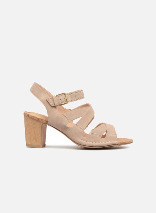 Sandales et nu-pieds Clarks Spiced Ava Beige vue derrière