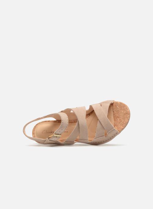 Sandales et nu-pieds Clarks Spiced Ava Beige vue gauche