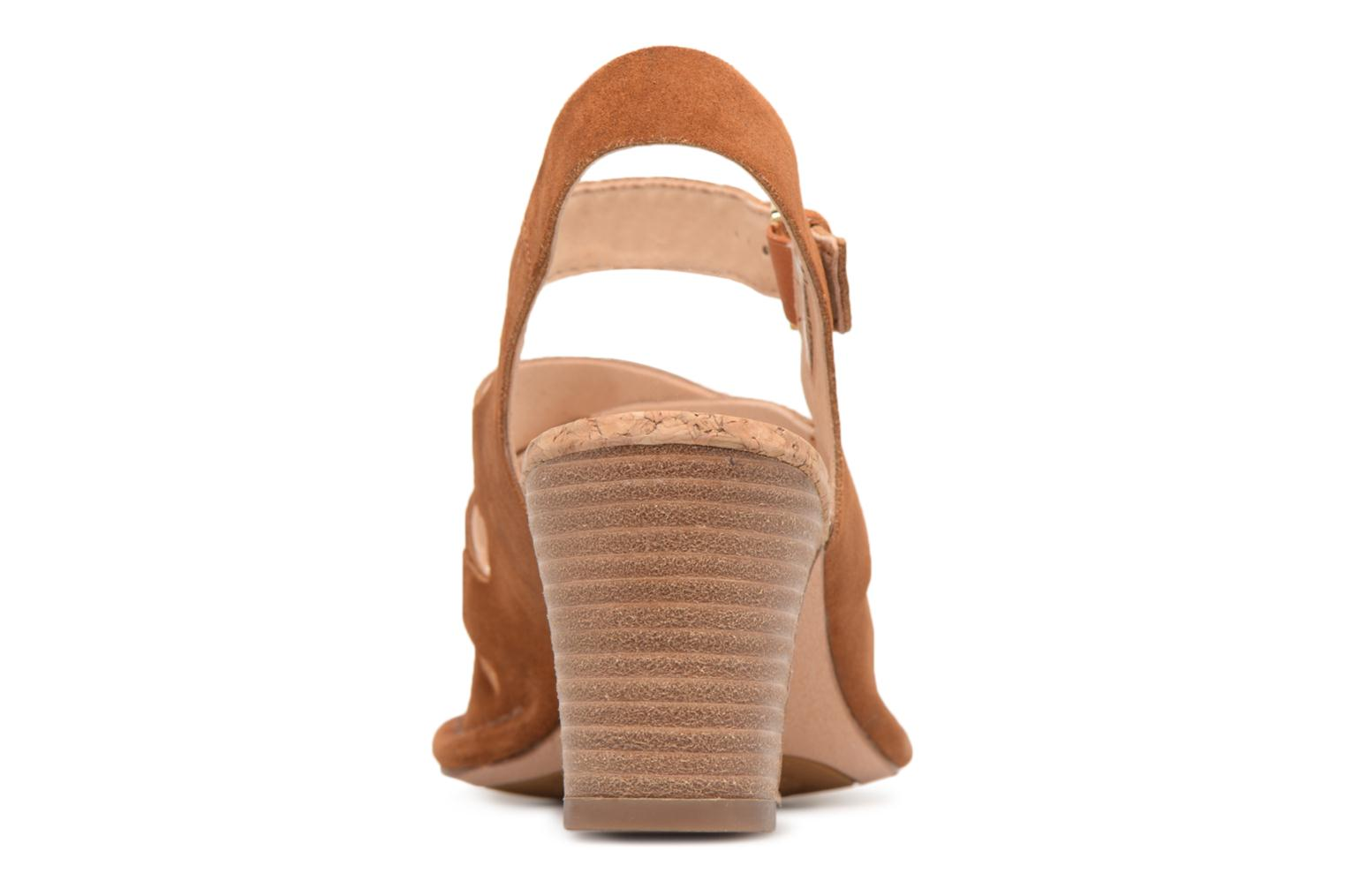Sandals Clarks Spiced Ava Brown view from the right