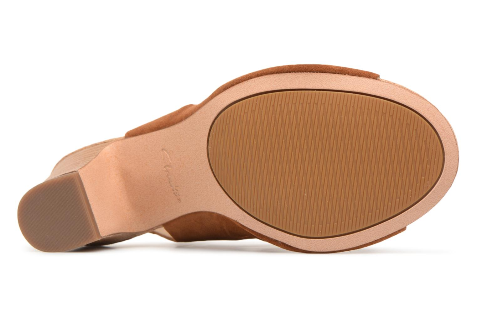 Sandals Clarks Spiced Ava Brown view from above