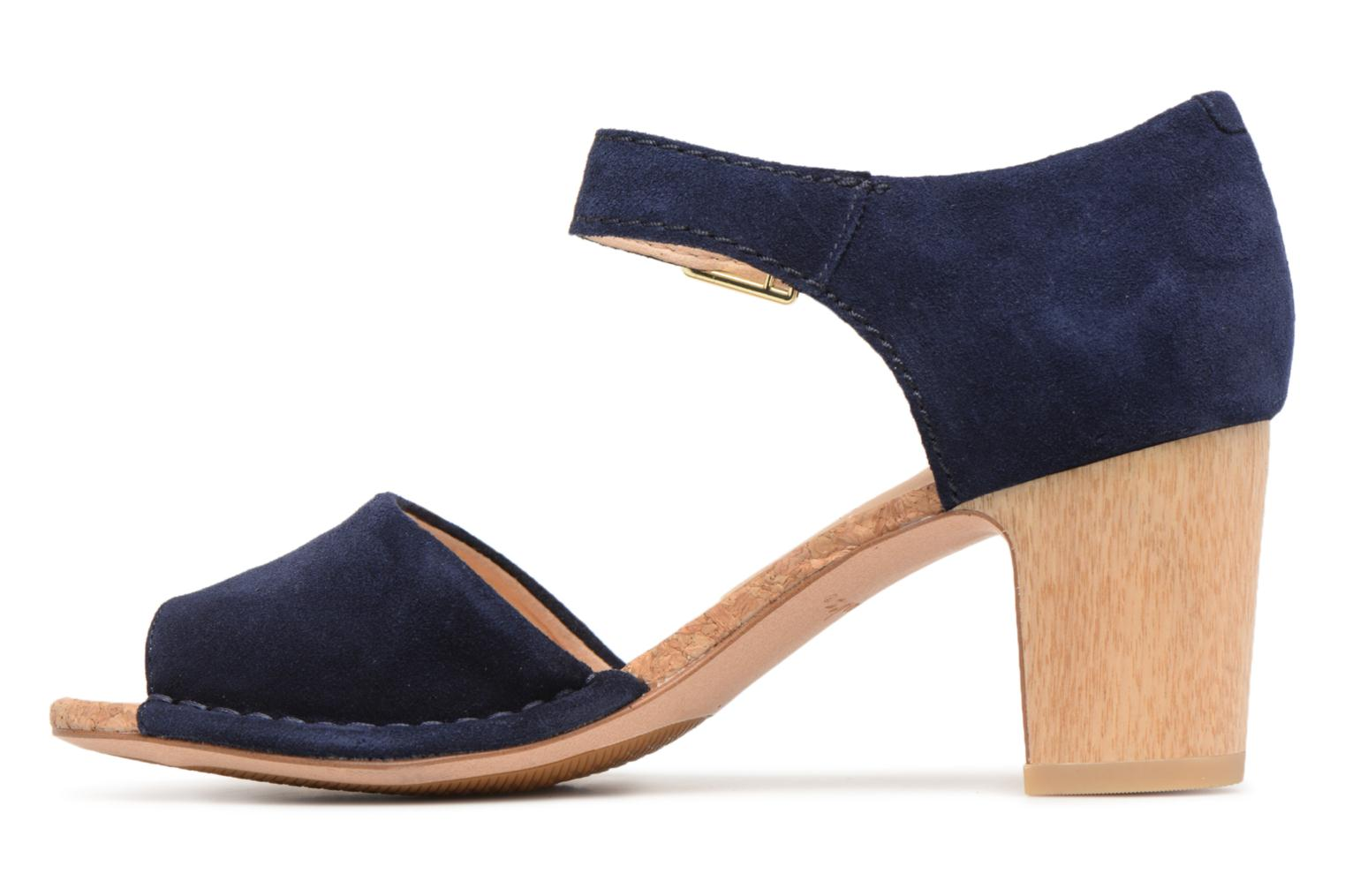 Sandals Clarks Spiced Olivia Blue front view
