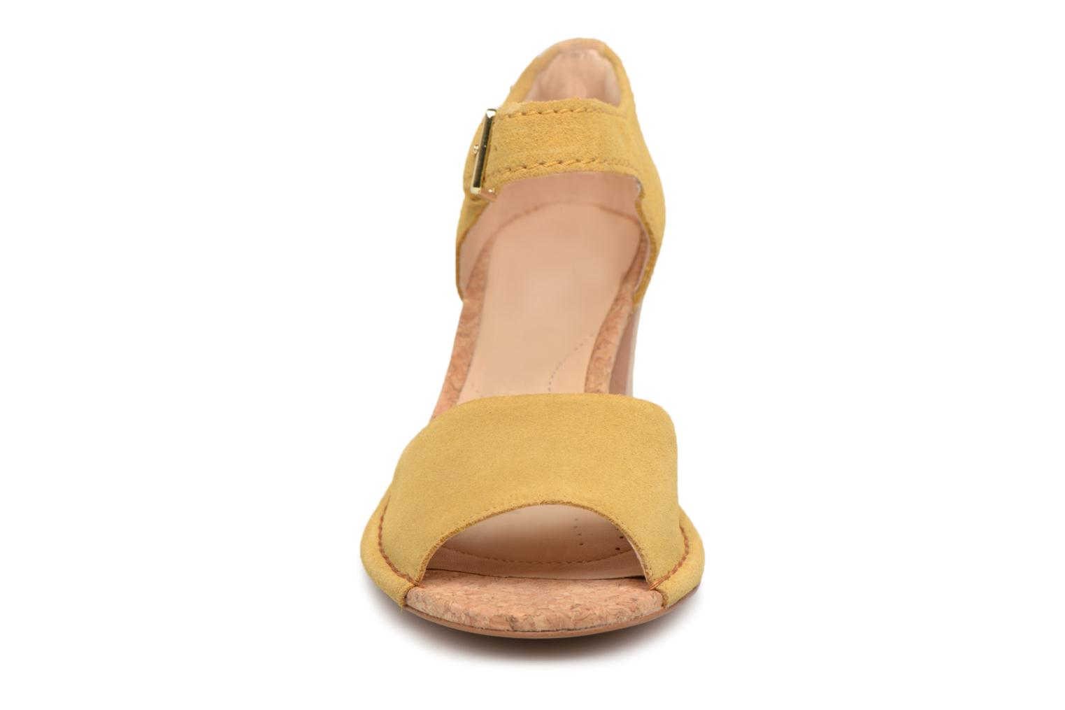 Sandals Clarks Spiced Olivia Yellow model view