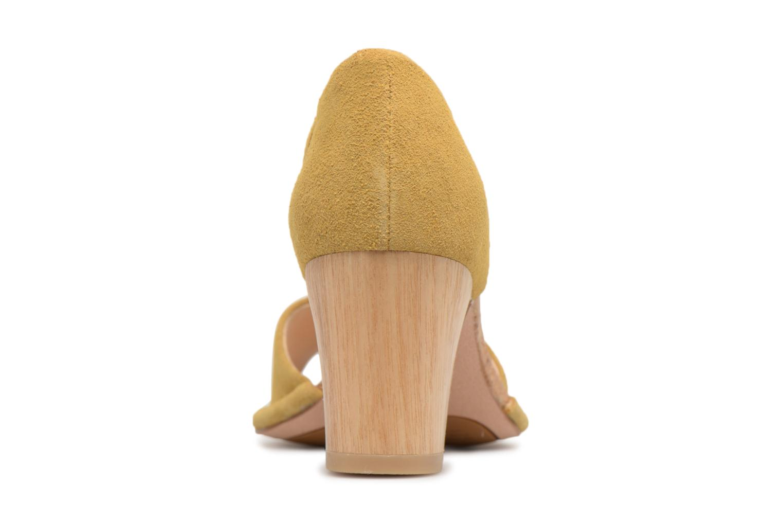 Sandales et nu-pieds Clarks Spiced Olivia Jaune vue droite
