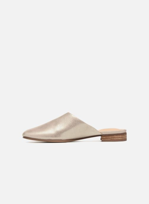 Mules et sabots Clarks Pure Blush Or et bronze vue face
