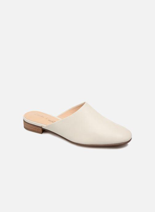 Mules et sabots Clarks Pure Blush Blanc vue détail/paire