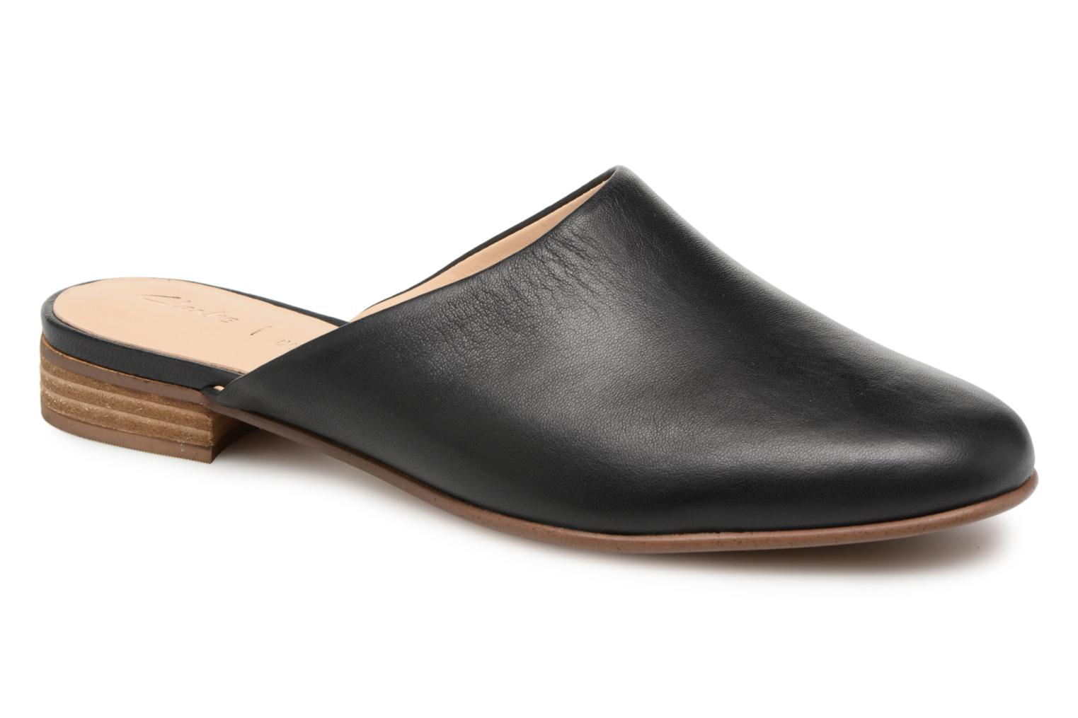 Mules & clogs Clarks Pure Blush Black detailed view/ Pair view