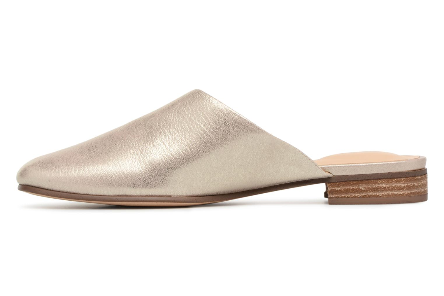 Mules & clogs Clarks Pure Blush Bronze and Gold front view