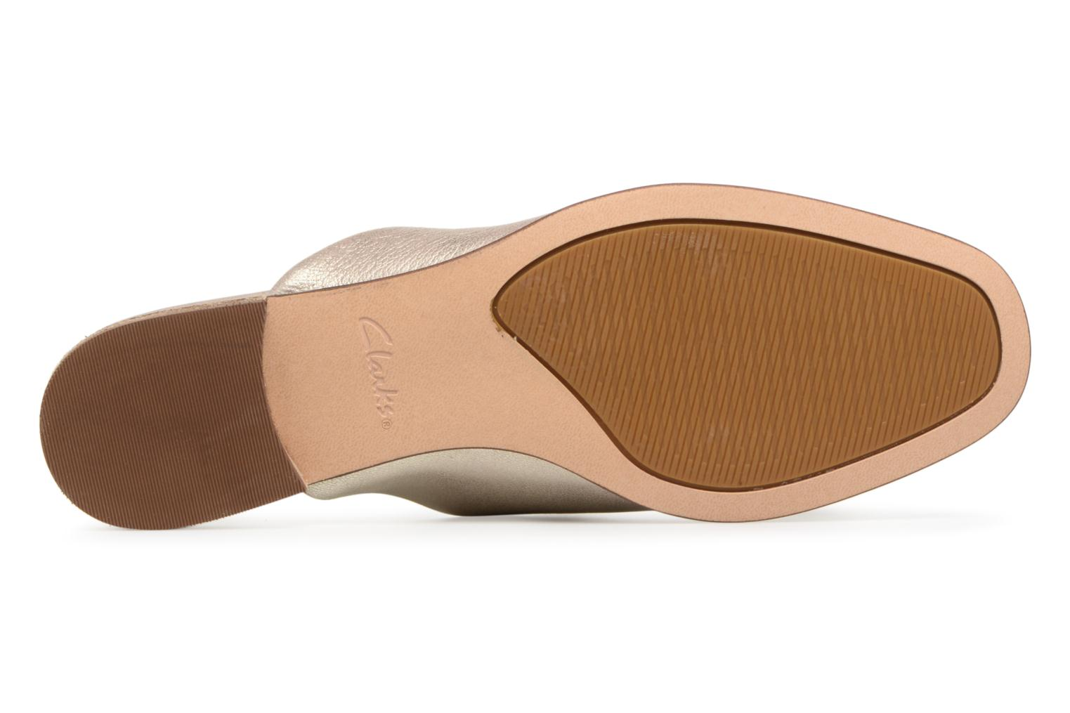 Mules & clogs Clarks Pure Blush Bronze and Gold view from above