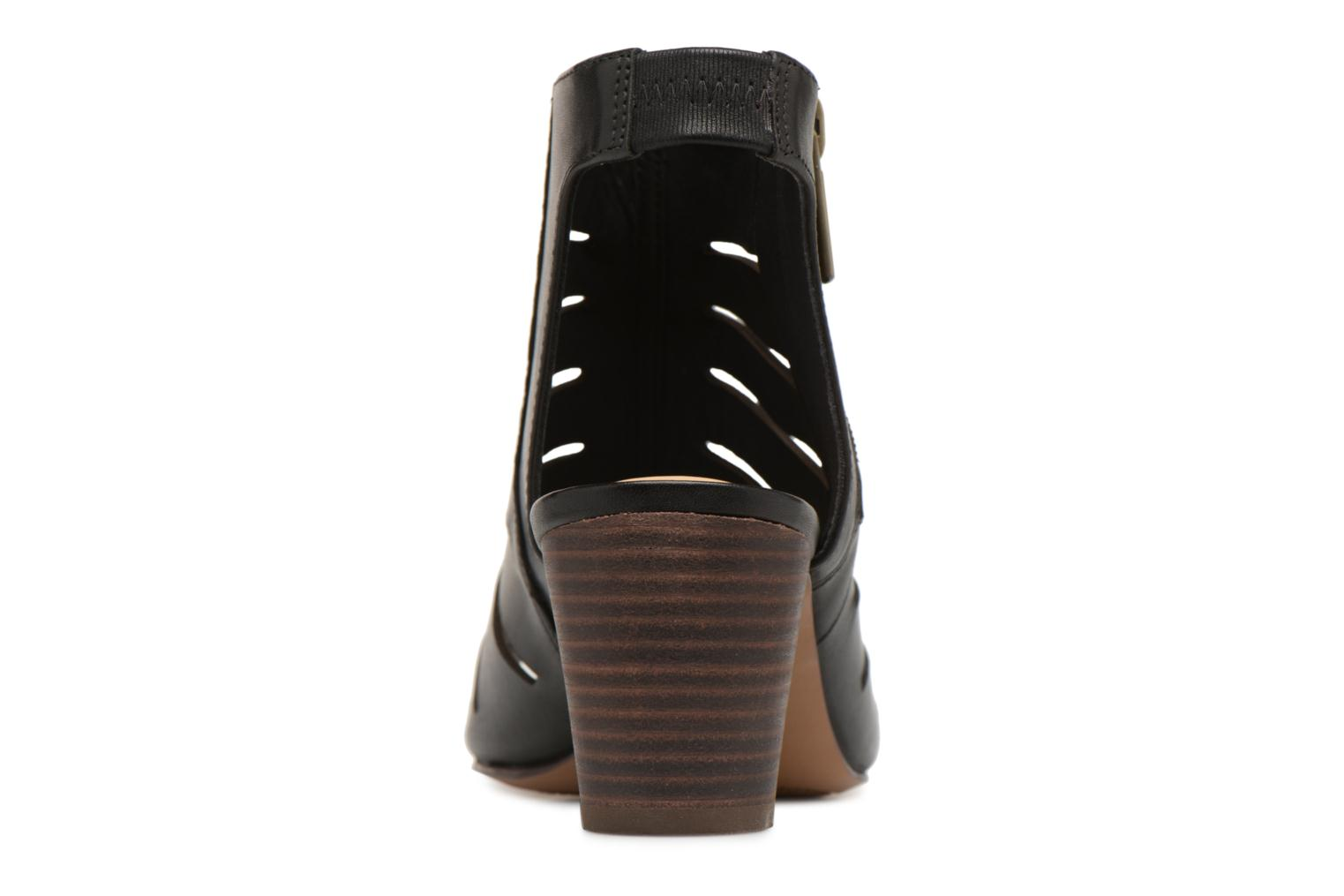 Sandals Clarks Deloria Ivy Black view from the right