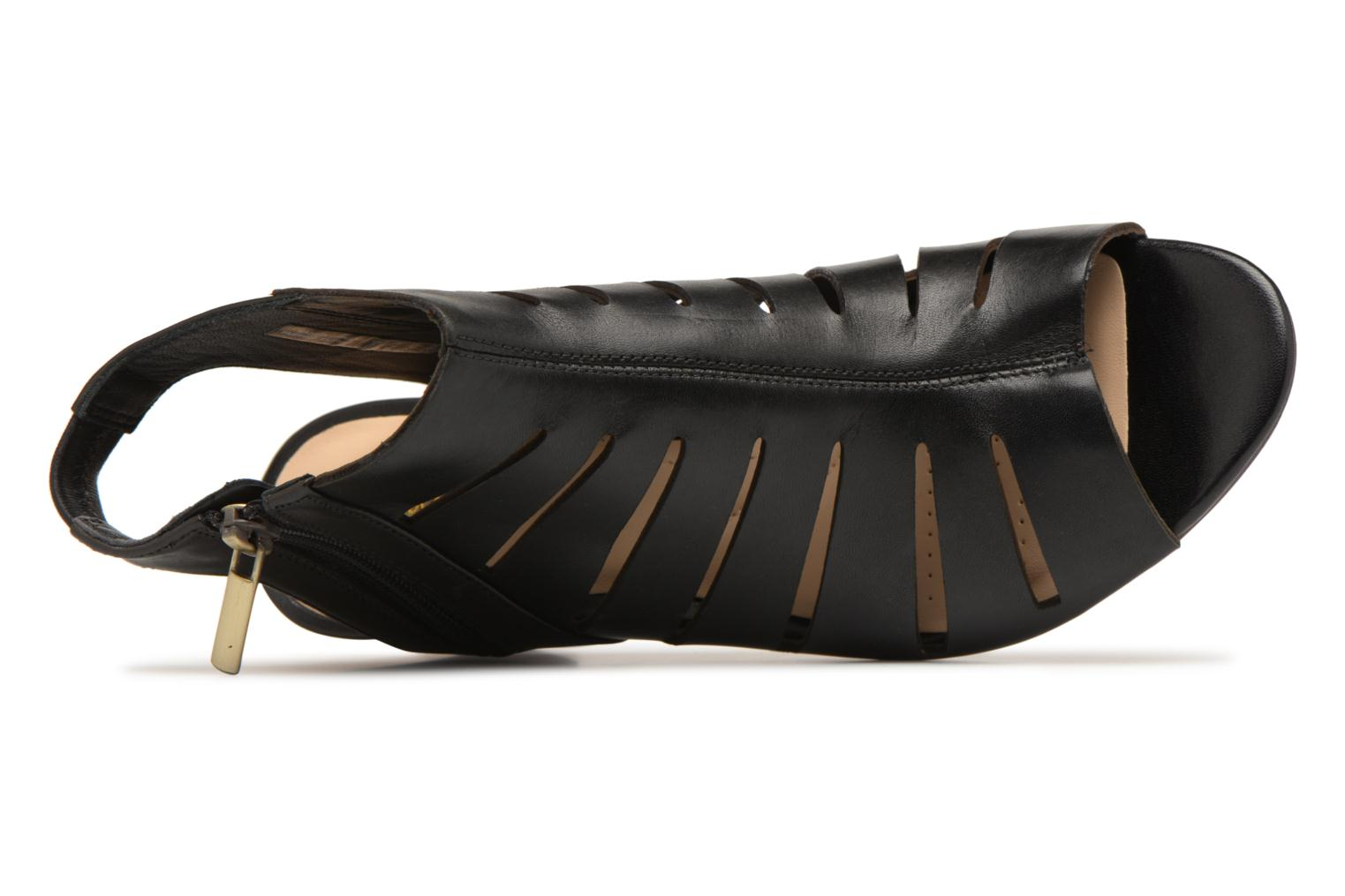 Sandals Clarks Deloria Ivy Black view from the left
