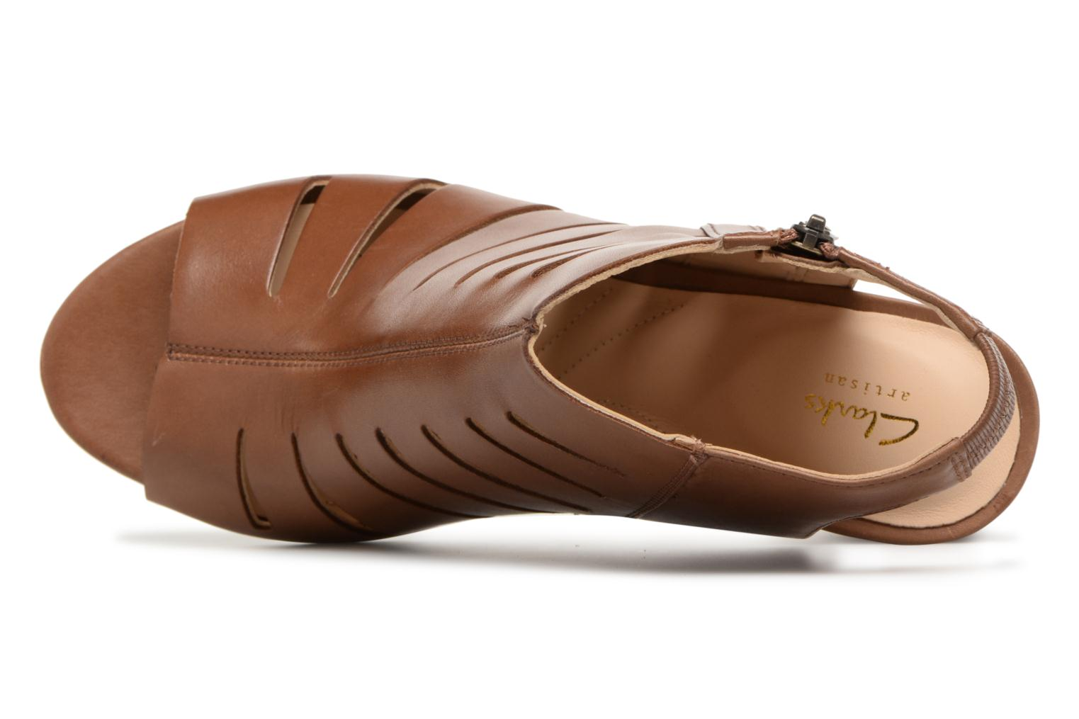 Sandals Clarks Deloria Ivy Brown view from the left