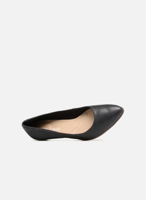 Zapatos de tacón Clarks Mena Bloom Negro vista lateral izquierda
