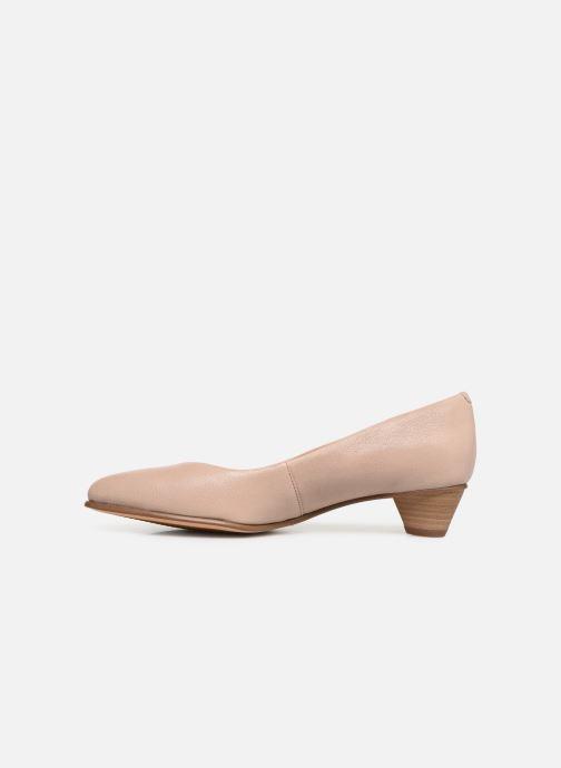 Zapatos de tacón Clarks Mena Bloom Beige vista de frente