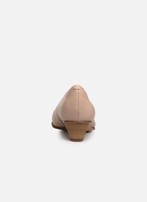 Zapatos de tacón Clarks Mena Bloom Beige vista lateral derecha