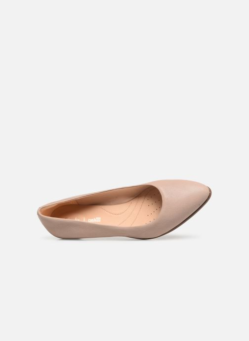 Zapatos de tacón Clarks Mena Bloom Beige vista lateral izquierda