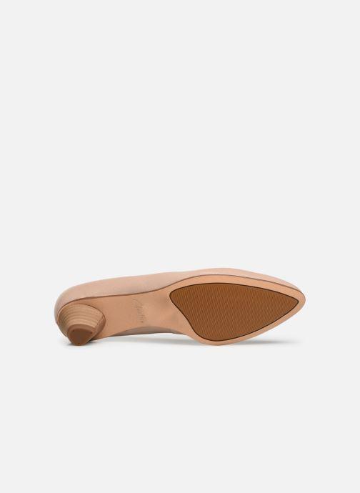 Zapatos de tacón Clarks Mena Bloom Beige vista de arriba
