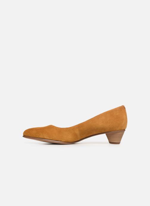 Zapatos de tacón Clarks Mena Bloom Amarillo vista de frente