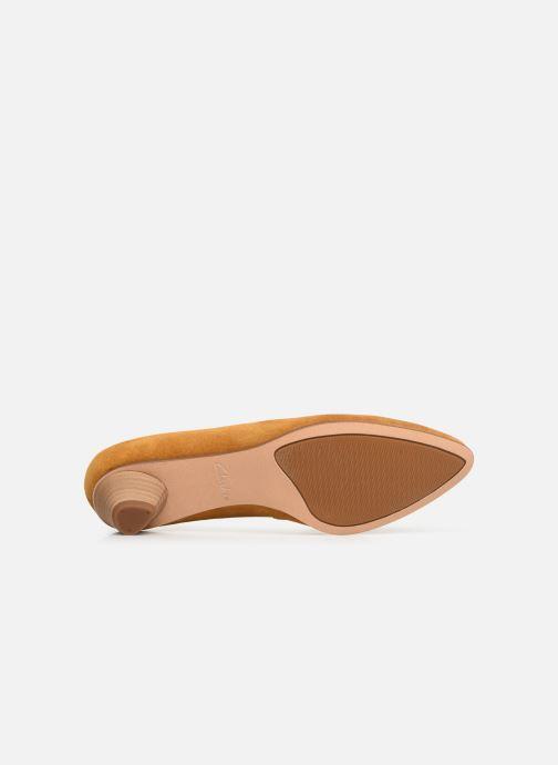 Zapatos de tacón Clarks Mena Bloom Amarillo vista de arriba