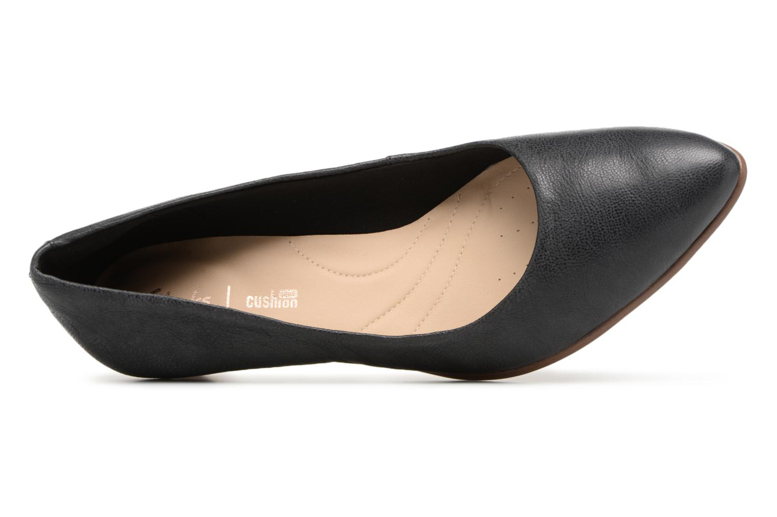 High heels Clarks Mena Bloom Black view from the left