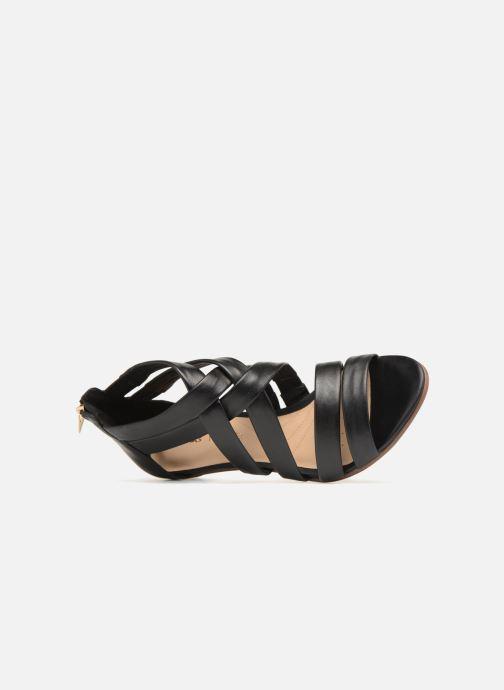 Sandales et nu-pieds Clarks Mena Silk Noir vue gauche