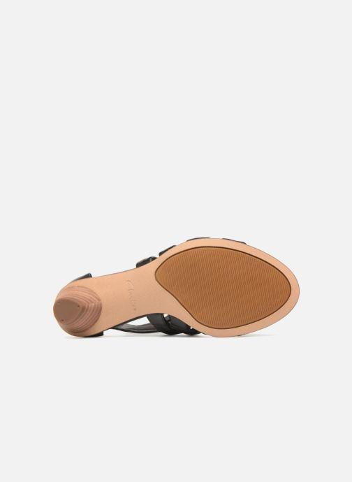 Sandali e scarpe aperte Clarks Mena Silk Nero immagine dall'alto