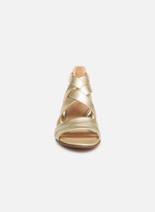 Sandalen Clarks Mena Silk silber schuhe getragen