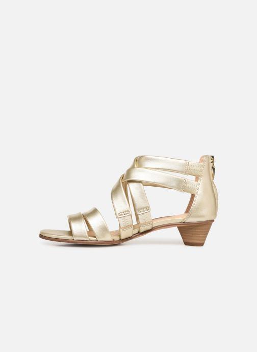 Sandales et nu-pieds Clarks Mena Silk Argent vue face