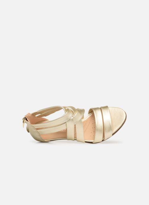 Sandales et nu-pieds Clarks Mena Silk Argent vue gauche