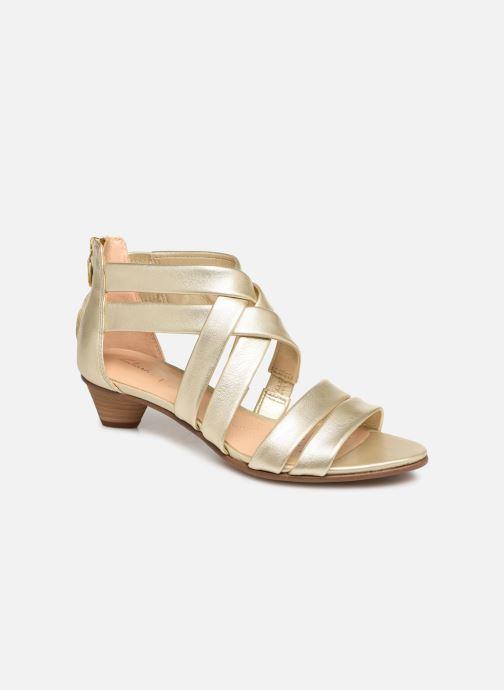Sandales et nu-pieds Clarks Mena Silk Argent vue détail/paire