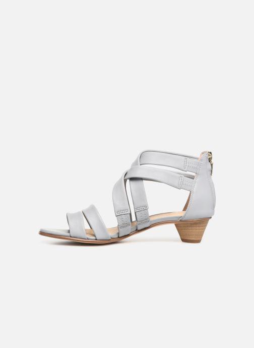 Sandales et nu-pieds Clarks Mena Silk Gris vue face